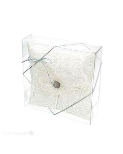 Pillow inside Clear Box