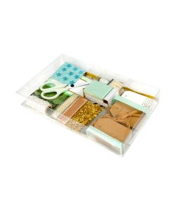 Clear plastic box with gift tag set