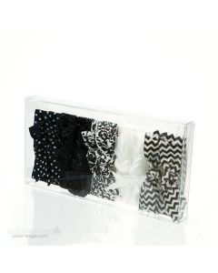 Bows packaged inside clear box