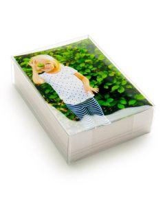 Clear box with photos