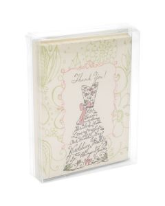 Greeting cards and envelopes packaged in box
