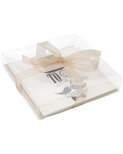 Clear plastic packaging box