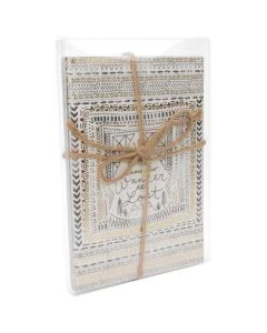 Stationery cards packaged in clear box