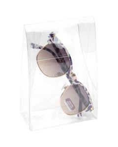 Sunglasses in clear box