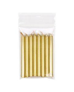 Gold candles inside vented hanging bag