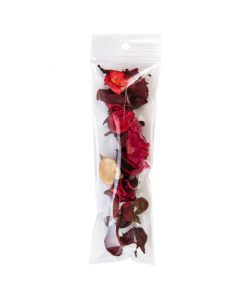 Packaged potpourri in hanging clear zip bag