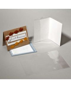 """5 1/8"""" x 10 1/16"""" Crystal Clear Card Jacket For 5"""" x 5"""" Envelope + Card (100 Pieces) [CJ5X5SM]"""