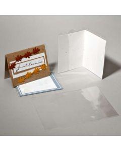 "7 1/4"" x 10 1/4"" Crystal Clear Card Jacket For 5"" x 7"" Card (100 Pieces) [CJ57]"