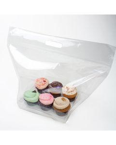 cupcake bag zip handle bag set for 6
