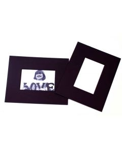 "8"" x 10"" Double Thick Single Mat Black 3.5"" x 5.5"" Inner Cut (25 Pieces) [MS31002]"
