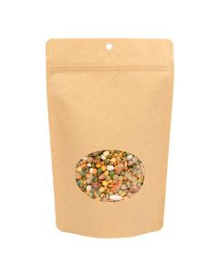 "5 7/8"" x 9 1/8"" eco friendly kraft stand up pouch"