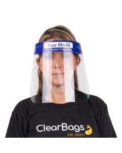 Single Use Foam Backed Face Shield (10 Pieces) [FBFS]