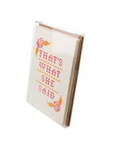 Clear box with set of greeting cards