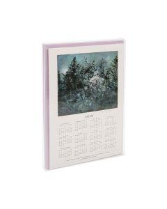 Packaged calendar in clear box