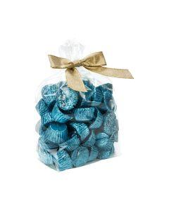 Crystal clear food safe gusset bag