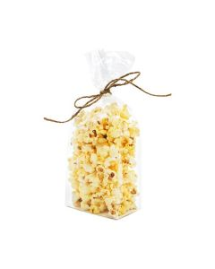 Popcorn bag tied with string