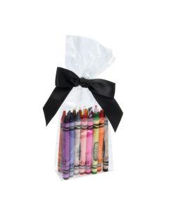 Crayons packaged in bag