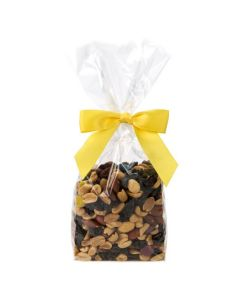 Trail mix packaged in clear bag