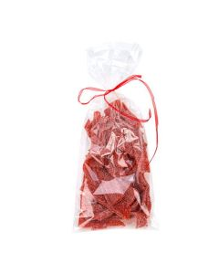 "5"" x 13"" Crystal Clear Flat Crinkle Bags (100 Pieces) [FCB2]"