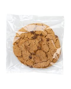 clear food safe heat seal bag with cookie