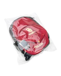 Clear poly flat bag with backpack
