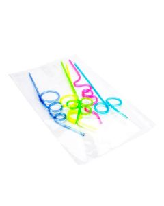 Straws packaged in poly bag