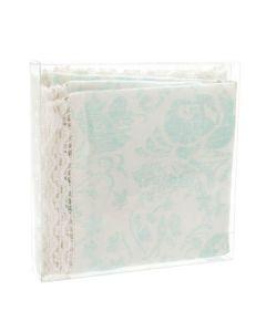 Folded fabric in box