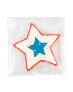 """5"""" x 5"""" + Flap Frosted Flap Seal Bag w/Polka Dots (100 Pieces) [B55FD]"""