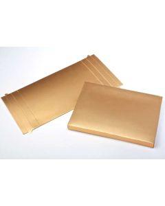 "3 3/4"" x 1"" x 5 3/8"" Gold Paper Box Bottom (25 Pieces) [GD31]"