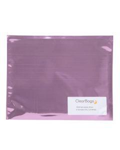 12 x 9 metallic pink mailer with address window