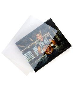 11x17 Glassine sheet over photo