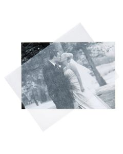 5x7 Glassine sheet over photo