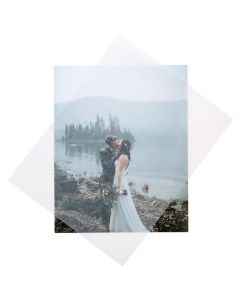 81/2 x 11 Glassine sheet over photo