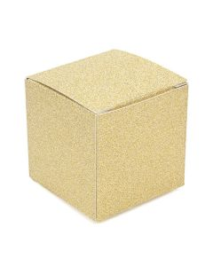 2 x 2 x 2 gold glitter box