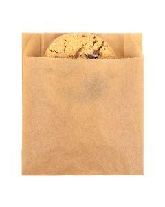 "4"" x 1 1/8"" x 4 1/2"" Kraft Greaseproof Bags (100 Pieces) [GPB2K]"