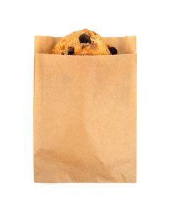 "kraft greaseproof bag - 4 1/2"" x 1 1/8"" x 6 3/4"""
