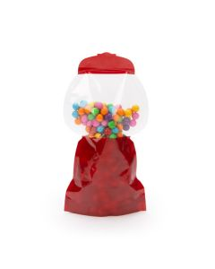 large gumball shaped pouch with gumballs
