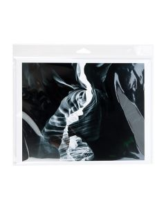 Packaged photo in clear flap bag