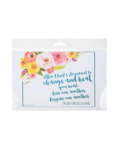 Packaged card in clear hanging bag