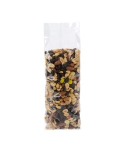 Trail-mix packaged in plastic bag