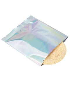 """4"""" x 4"""" Holographic Metallized Heat Seal Bags (25 Pieces) [SVP44H]"""