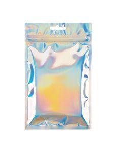 "5"" x 7"" Holographic Hanging Zipper Barrier Bags (25 Pieces) [HZBB57H]"