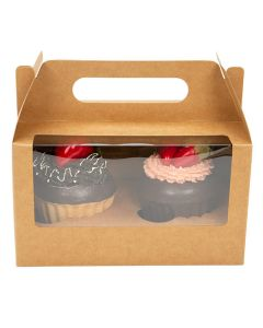 double cupcake box with insert