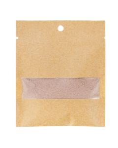 "3"" x 4"" Kraft heat seal bag with window"