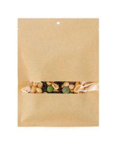 Food safe heat sealable kraft bag