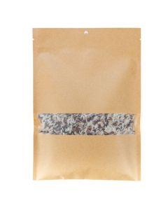 "6"" x 9"" Kraft heat seal bag with rice"