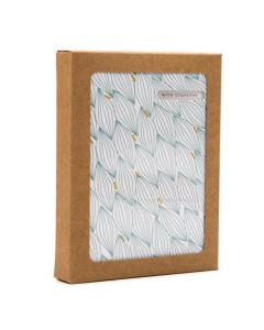 """4 1/2"""" x 7/8"""" x 5 7/8"""" Kraft Paper Window Box with Attached PET Sheet (25 Pieces) [WKRG247]"""