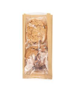 Food safe clear front kraft sided bag