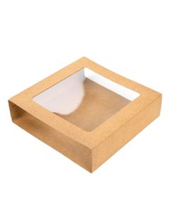 "4 1/16"" x 1 1/16"" x 4 5/16"" Kraft Slip Cover (25 Pieces) [KR22]"