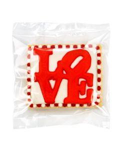 packaged cookie inside flat heat seal bag